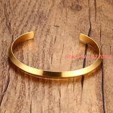 New Top Quality Brand Design Stainless Steel Round Bracelets Gold Womens Jewelry Cuff Bangle 6mm Bracelet