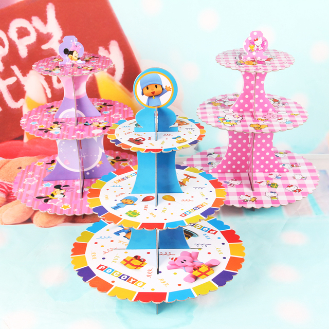New 15 Styles Wedding Cupcake Stand Girl Kids Birthday Party Supplies Food Table Decoration