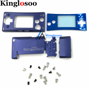 Image 2 - 5 Colors Metal Housing Shell case for Nintendo Gameboy Micro GBM front back Cover Faceplate Battery Holder w/ Screw