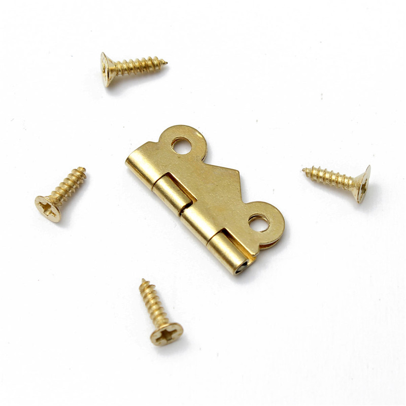 MTGATHER 10pcs Iron Mini Butterfly Door Hinges Cabinet Drawer Jewellery Box Hinge For Furniture Hardware Bronze Gold Silver