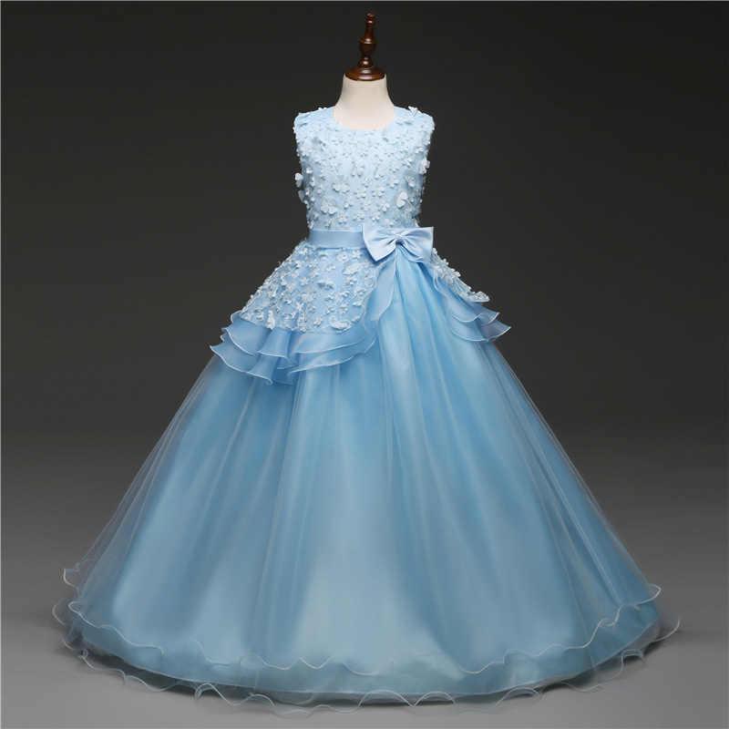 От 5 до 14 лет, Детские Платья с цветочным рисунком для девочек вечерние, бальные платья для выпускного вечера платье принцессы для девочек, платье подружки невесты на свадьбу, детская юбка-пачка для причастия