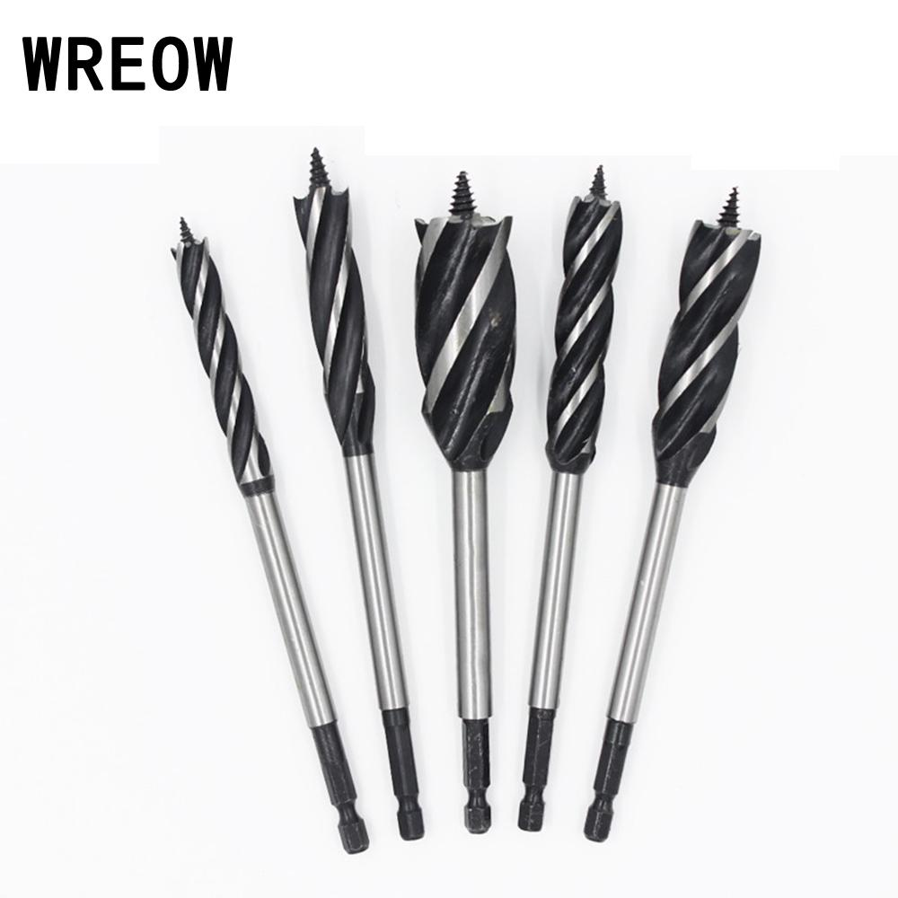 1pcs 10mm 35mm 4 Flute 165 Mm Hex Shank Woodworking Carpenter Door Lock Bore Hole Saw Gun Core Twist Auger Drill Bit