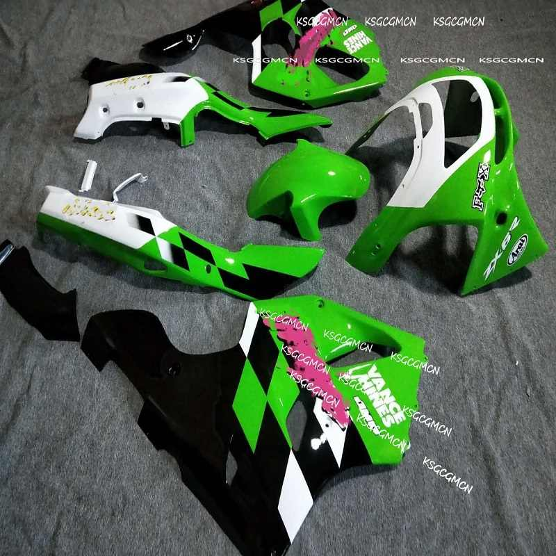 ZX6R 94 97 fairing For KAWASAKI ZX 6R 636 94 97 95 96 Green White black ZX-6R NINJA ZX 6R 636 1994 95 96 1997 Fairing Kits-Dor D