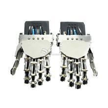 Humanoidalne finger manipulator five fingers antropomorficzne left hand/prawa ręka z servo dla dwunożny robot diy