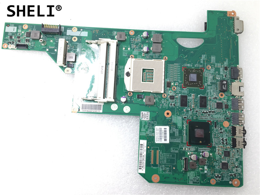 SHELI For 615381-001 615382-001 LAPTOP MOTHERBOARD for HP COMPAQ G62 CQ62 series INTEL HM55 ATI <font><b>Mobility</b></font> <font><b>Radeon</b></font> <font><b>HD</b></font> <font><b>5470</b></font> DDR3 image