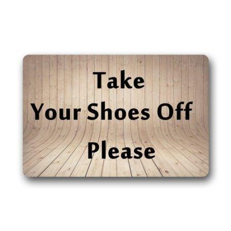 Cottage Decor Helper Custom Machine Washable Door Mat Please Take Your  Shoes Off Indoor/
