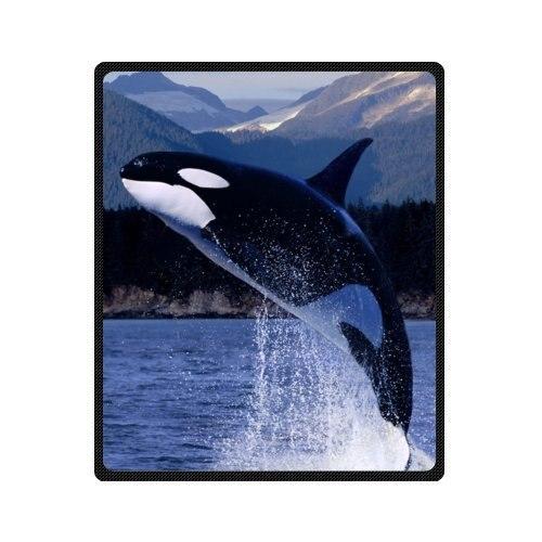 Printemps automne couverture Discount coton couvertures et jetés avec baleine dans la mer thème couverture voyage canapé couverture