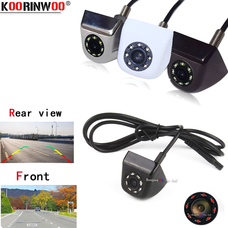 Koorinwoo Universal Car Backup Camera Metal CCD HD Reverse  Front view   Rear View Cameras 8 IR Night Vision Waterproof IP68