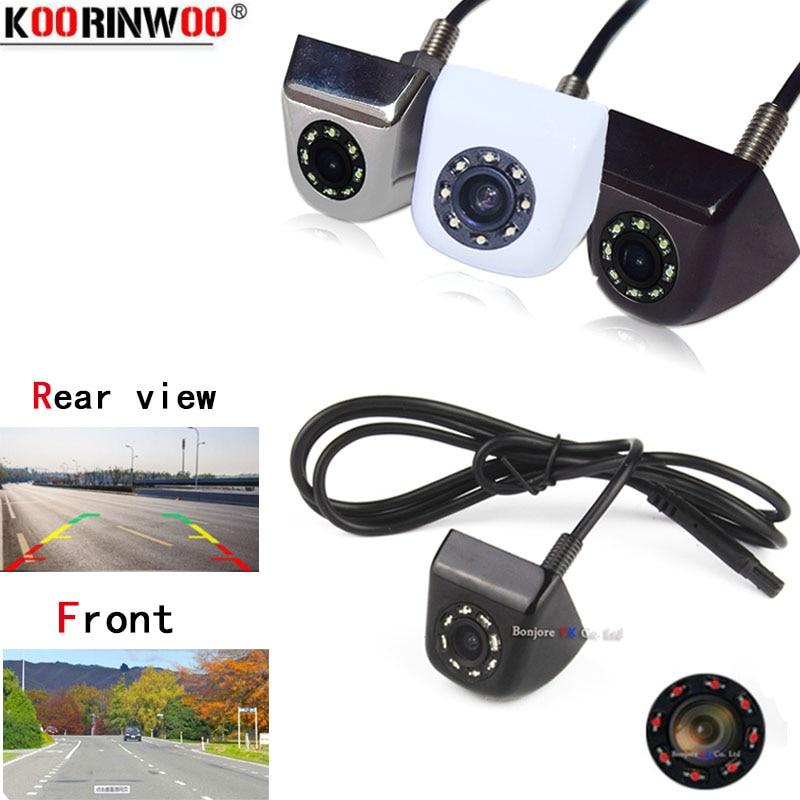 Koorinwoo Universal Car Backup Camera Metal CCD HD Reverse  Front View / Rear View Cameras 8 IR Night Vision Waterproof IP68