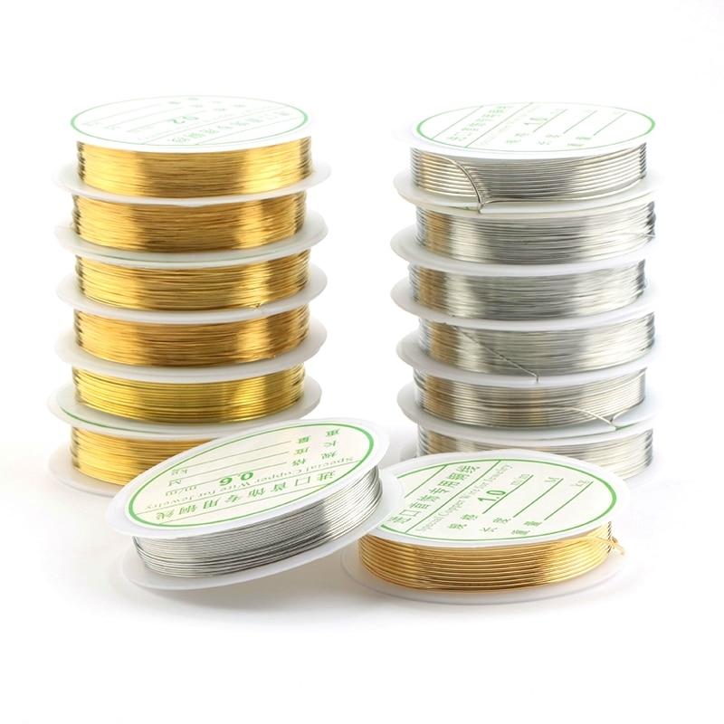 0,2-1mm Perlen Splitter Goldenen Kupfer Schnur String Gewinde Metall String Draht Für Halskette Armband Zubehör Schmuck Machen Diy Herausragende Eigenschaften