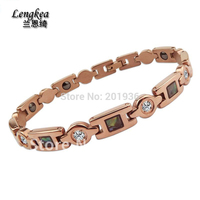 Free Shipping Pure Titanium Germanium Health Care Bracelet Woman Anti Fatigue Accessories Ancient Bracelet Healthy Gift