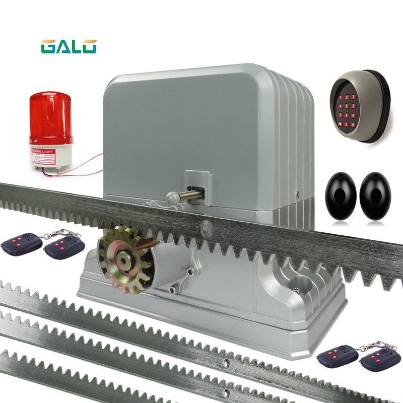 Heavy duty 1800kg electric sliding gate motors/rolling automatic gate opener engine4 remote control and racks 1Photocell 1 lamp 1800kgs 3600lbs electric sliding gate motors automatic gate opener for access control with 5 pair 10pieces of remote control