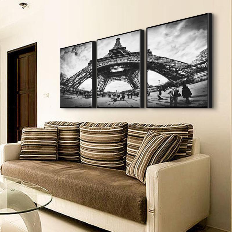 haochu blanco y negro torre eiffel decoracin pintura moderna minimalista pintura pintura de paisaje rectngulo