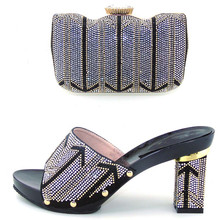 2016 New Fashion Italian Shoes with Matching bags For Party african Shoes And Bags Set for Wedding shoe and bag set WDL1-20