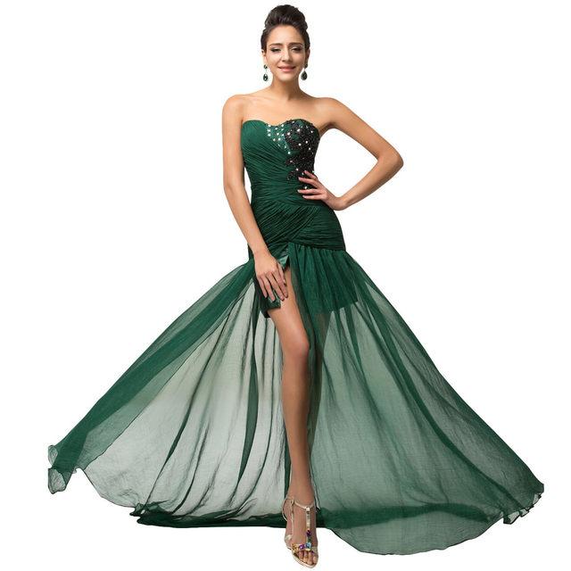 Online Shop Grace Karin Elegant Long Dark Emerald Green Mermaid Prom ... 334112320e6f