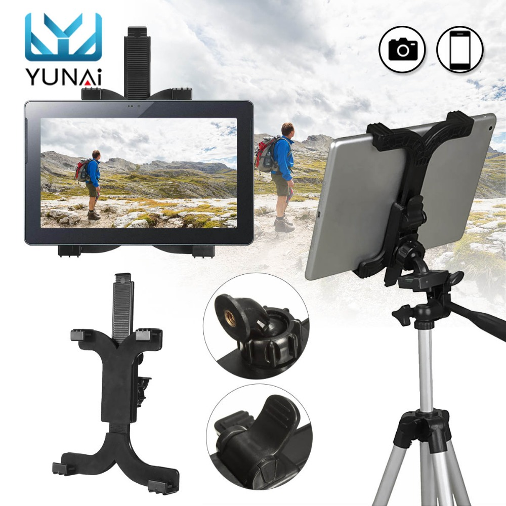 ABS Tablet Stand Clip Self-Stick Tripod Mount for iPad Stand Holder Tablet Holder Mount Bracket Accessories For 7-11'' Tablet