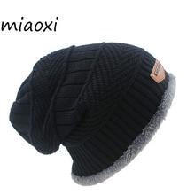 miaoxi New Fashion 6 Colors Knit Adult Unisex Men Hat Winter Warm Caps Skullies For Women