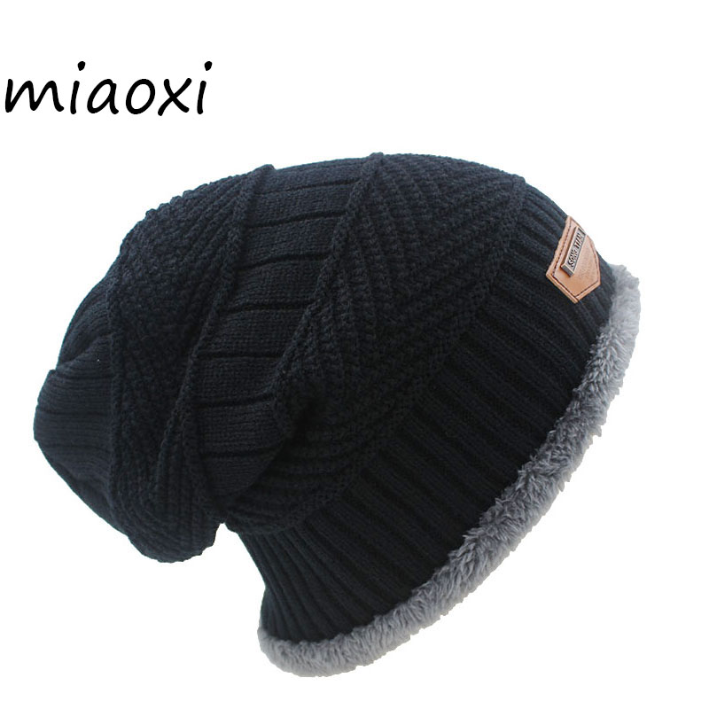 miaoxi New Fashion 6 Colors Knit Adult Unisex Men Hat Winter Warm Caps   Skullies   For Women   Beanie   Wool High Quality Snow Caps