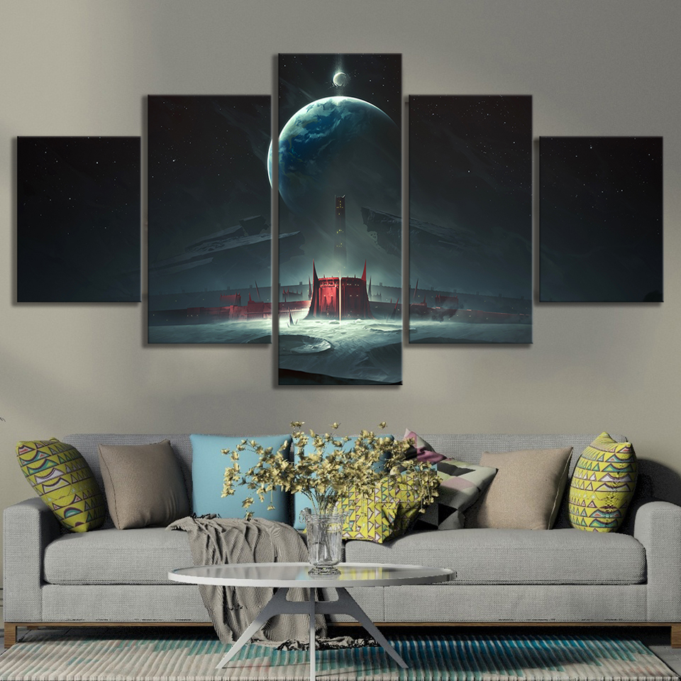Destiny 2 Shadowkeep Video Games Art Frameless Paintings HD Fantasy Game Poster Wall Art Oil Paintings for Bedroom Wall Decor 3