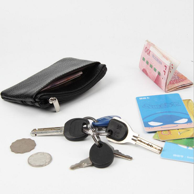 PU Leather Women Housekeeper Portable Business Credit Card Holder Small Key Wallet Coin Pouch Change Money Case Key Ring 4