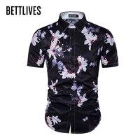 Fashion Brand Men Colorful Funny Shirts 2017 New Brand Clothing Slim Fit 3D Hawaiian Shirt Mens