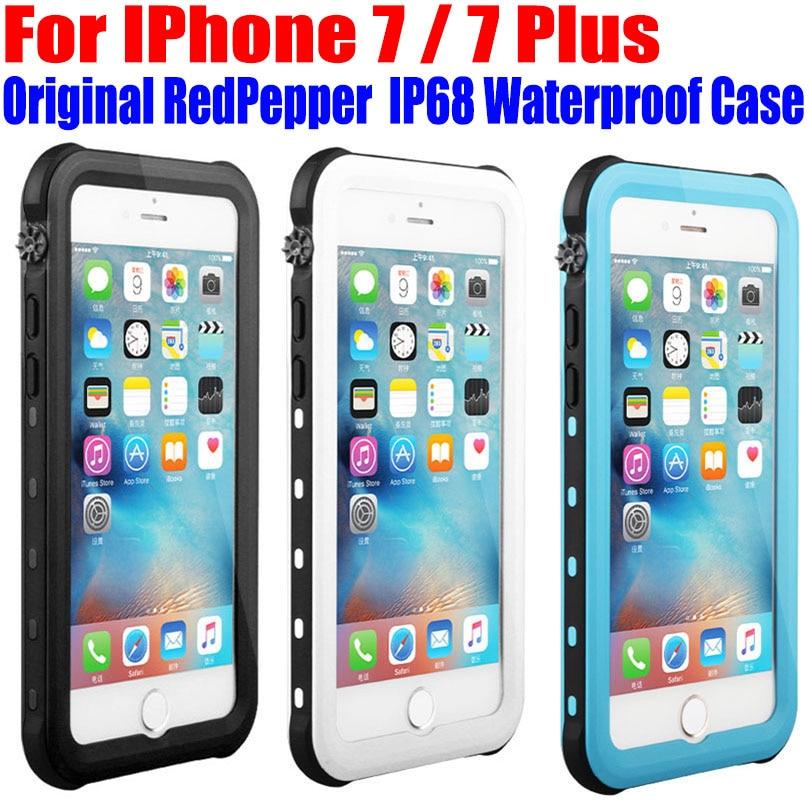 imágenes para Para El Iphone 7 Más Caso Original RedPepper Dot Serie IP68 A Prueba de agua Submarinismo PC + TPU de la Cubierta de Armadura Para iPhone 7 IP712