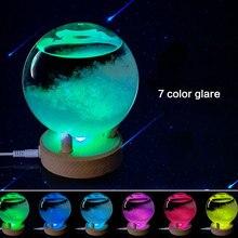 Красочные обои для рабочего стола, кристальная бутылка, прозрачный шар желаний, штормовое стекло, предсказатель погоды, мониторы, светодиодный светильник