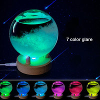 Colorful Desktop Weather Forecast Crystal Bottle Transparant Wishing ball Storm Glass Forecast Predictor Monitors with LED light