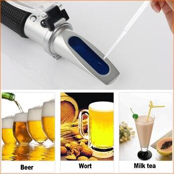 RZ ű�折計アルコールビール計砂糖比重テスターハンドヘルドポータブル糖度 0-32% ȇ�動屈折計ワイン RZ120