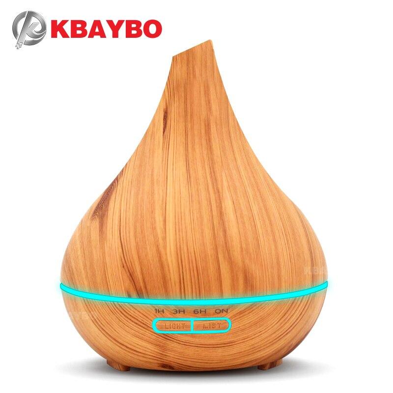 KBAYBO humidificador ultrasónico aroma difusor de aceite esencial de madera aromaterapia cool mist maker fogger vaporizador del aire para el hogar