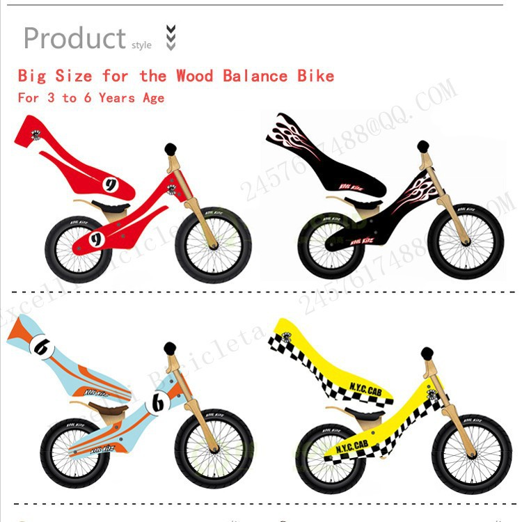 b03-Baby two wheels Wood Balance Bike for 2-6 Years age Bicicleta Infantil Balance Bike Kid's bicycle Common Childen's Cycling