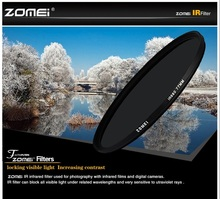 "Zomei 680nm 720nm 760nm 850nm 950nm אינפרא אדום IR מסנן 37/49/52/58/67/72 /82 מ""מ עבור SLR DSLR מצלמה עדשה"