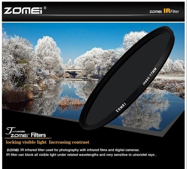Zomei 680nm 720nm 760nm 850nm 950nm filtre infrarouge IR 37/49/52/58/67/72/82mm pour objectif appareil photo reflex numérique