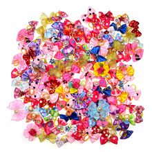 New 100/50/lot Dog Grooming Bows Diamond Pearls Style pet hair bows dog hair accessories pet shop dog acessories