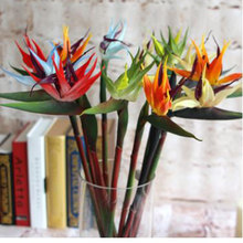 Piante artificiali Weddind decorativo artificiale birds DELL'UNITÀ di ELABORAZIONE uccello del paradiso strelitzia reginae mini fiori per Hawaiian par(China)