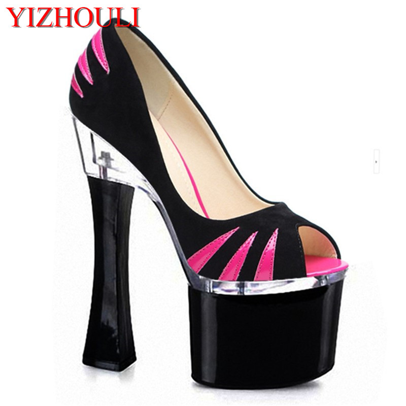 The new spring and stylish women 17-18 cm high heels sweet princess single star shoesThe new spring and stylish women 17-18 cm high heels sweet princess single star shoes