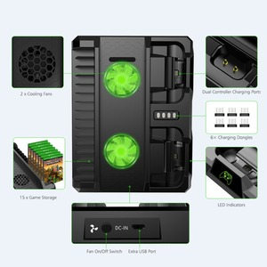 Image 5 - OIVO estación de carga de Doble controlador para Xbox ONE S X, base de carga de juegos, soporte Vertical de enfriamiento, cargador para consola Xbox ONE/S/X