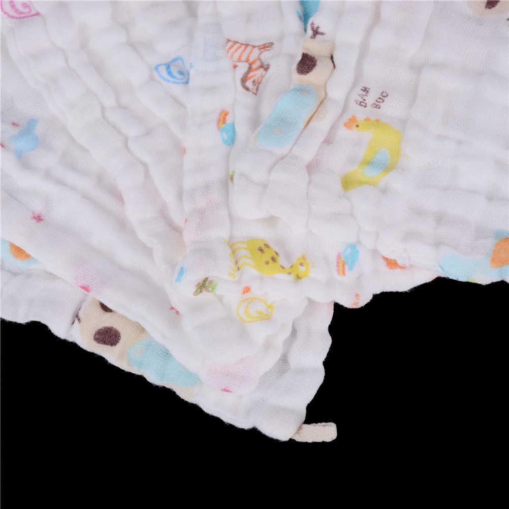 6 레이어 무명 코 튼 베이비 닦아 수건 25x25cm 아기 소녀 소년에 대 한 흡수 및 부드러운 아기 손수건