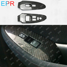For Nissan 370Z Z34 (RHD) Carbon Fiber Window Switch Cover (Stick on) Body Kit Tuning Part (2009+)