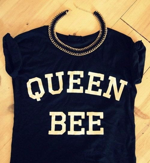 Kiwi 2016 Women Summer New Punk Style Street Clothing QUEEN BEE ...