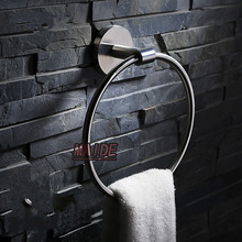 Из нержавеющей стали щеткой из нержавеющей стали 304 круглый стиль кольцо полотенца держатель полотенца для ванной