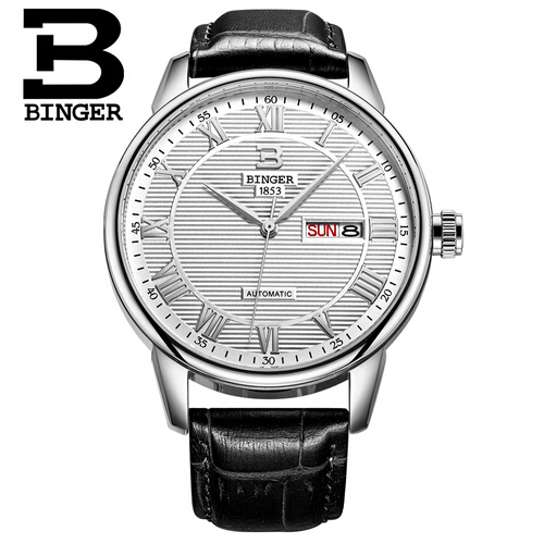 ФОТО Switzerland Watches men luxury brand Binger quartz Digital men wristwatches dive 50m Casual Fashion watch relogio masculino