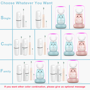 Image 5 - Family Travel kit Electric Toothbrush Rechargeable Tooth Brush Electric Automatic Wireless Charging sonic kids Electric Brush
