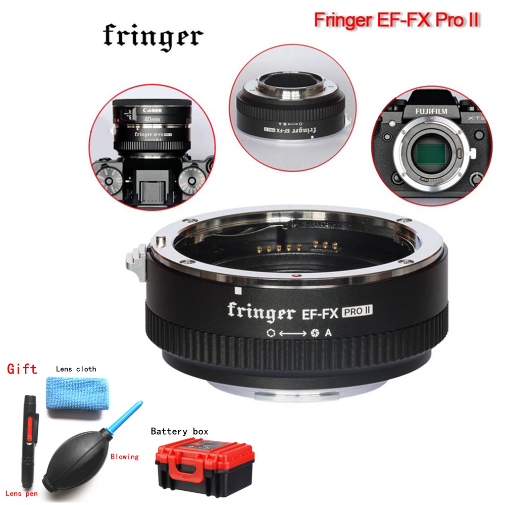 Fringer EF FX PRO II Auto Focus Adapter to Fujifilm Mount for Canon EF Lens Compatible