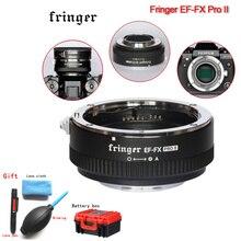 Fringer EF FX PRO II אוטומטי פוקוס מתאם כדי Fujifilm הר עבור Canon EF עדשה תואם עבור Fujifilm X E EF FX2 פרו x H X T X PRO
