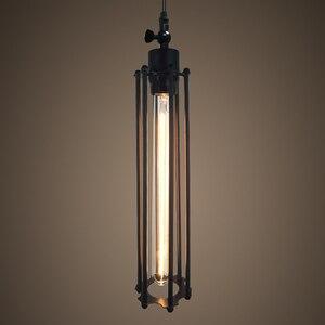 Image 3 - Retro Vintage Pendant Lights Steam Punk Industrial Style Single Head Use Edison Light Bulb hanglamp luminaria pendant lamp