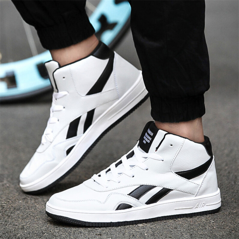 popular high sneakers for sports shoes boys white