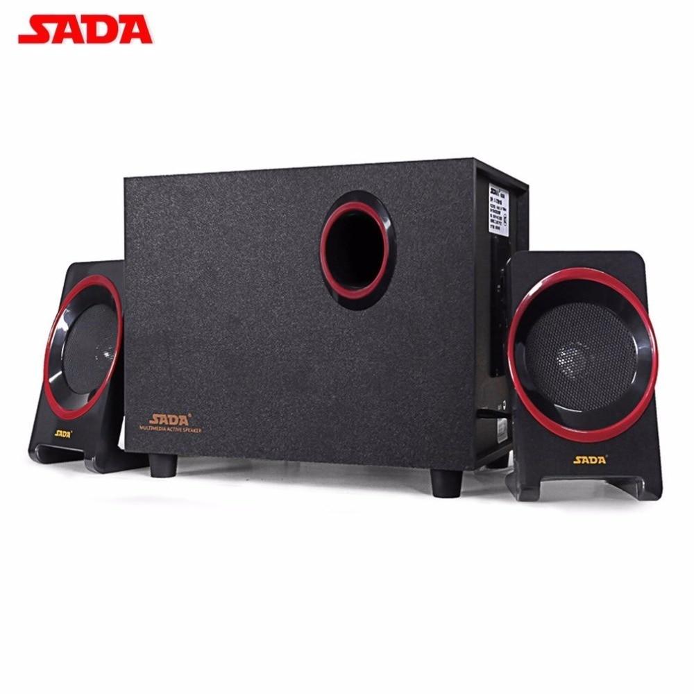 цена на SADA D-225 Bluetooth 2.1 Subwoofer Stereo Bass PC Laptop Mobile Phone Speaker TF/U Disk FM Wood Music Player