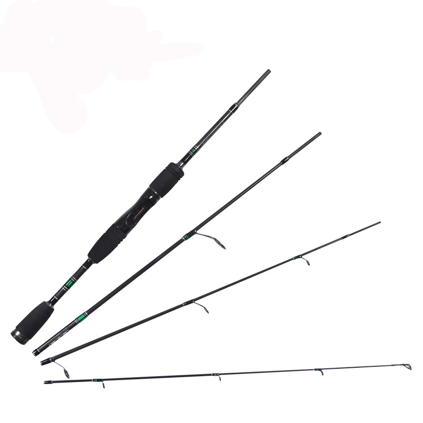 ФОТО 4 Sections 1.98M 120G Medium Action 99% Carbon Portable Ultra-light Spinning/Casting Fishing Rods Lure Rods Bass Rods