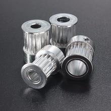 GT2 16 зубьев 20 зубьев диаметр 5 мм/6,35 мм/8 мм ГРМ Алюминиевый шкив подходит для GT2 10 мм открытый ремень ГРМ для 3d принтера